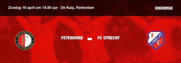 Feyenoord rekent af met FC Utrecht