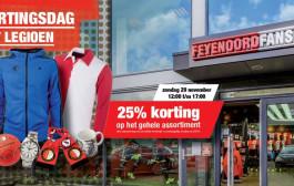 Zondag Kortingsdag voor Legioen-leden in Feyenoord Fanshop