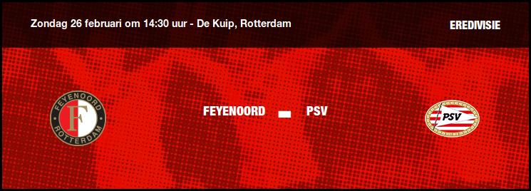 Matchday | Feyenoord-PSV | Opstelling